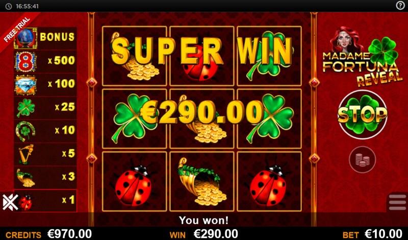 Madame Fortuna Reveal :: Super Win