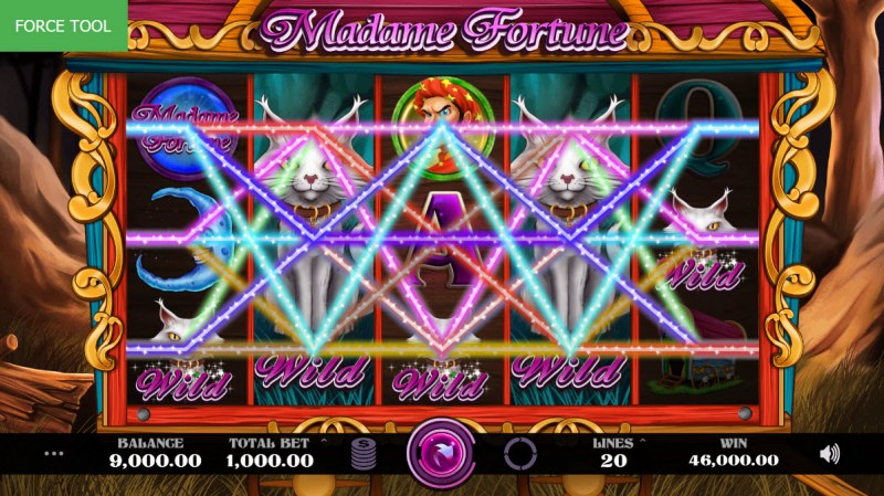 Madame Fortune :: Multiple winning paylines leads to a mega win