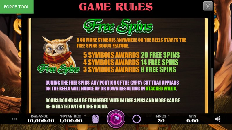 Madame Fortune :: Free Spins Rules