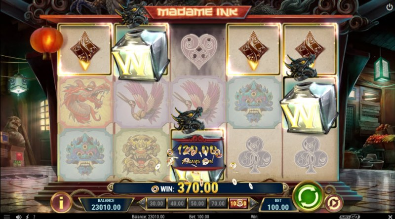 Madame Ink :: Multiple winning combinations leads to a big win