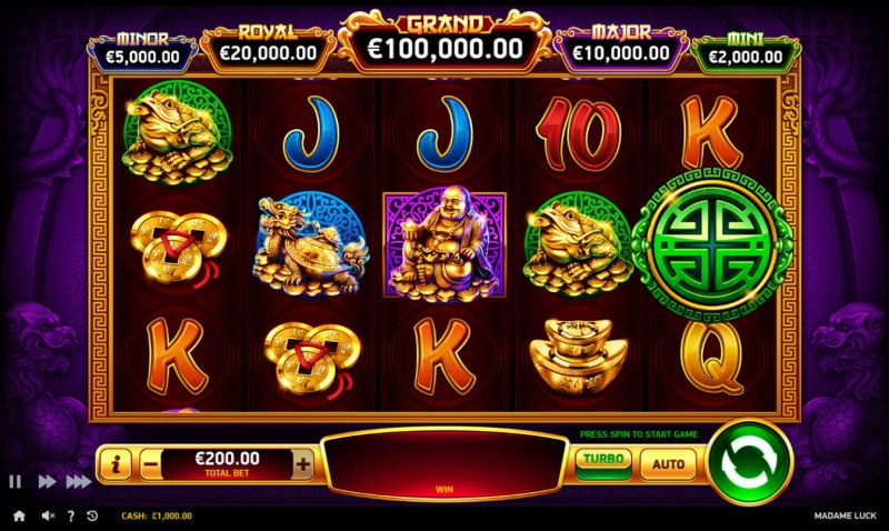 Play slots at Zet Casino: Zet Casino featuring the Video Slots Madame Luck with a maximum payout of $100,000