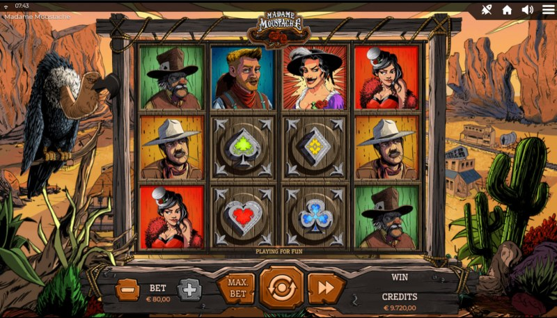 Madame Moustache :: Base Game Screen