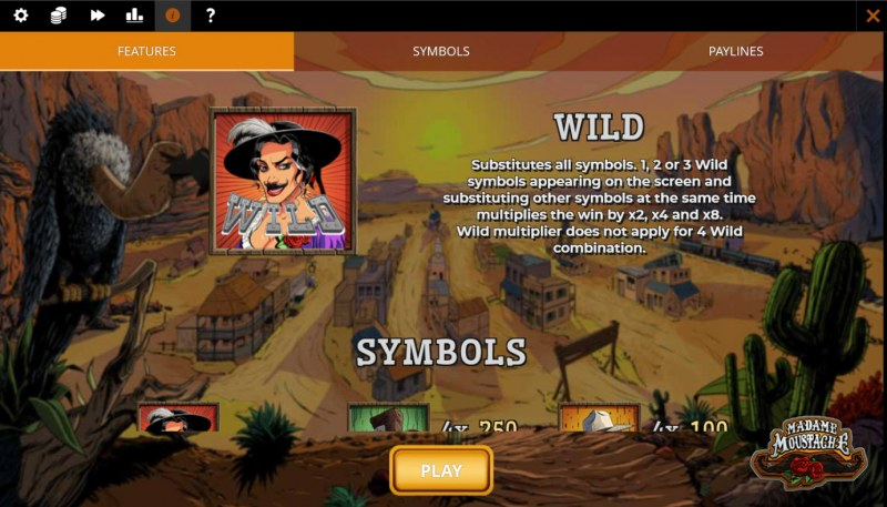 Madame Moustache :: Wild Symbol Rules