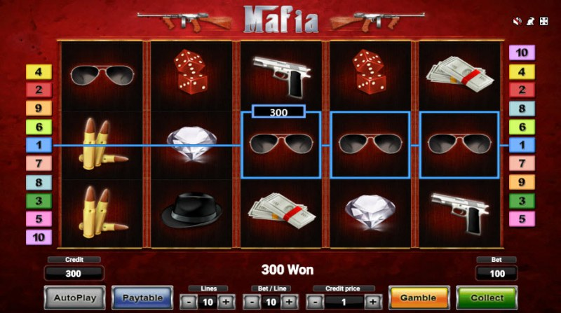 Mafia :: Game pays on adjacent