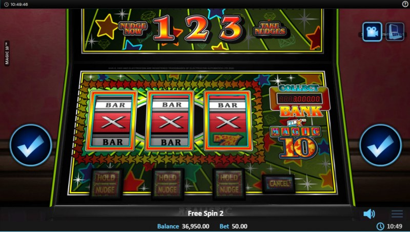 Magic 10 :: Free Spins Game Board