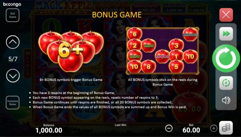 Magic Apple Hold and Win :: Bonus Game