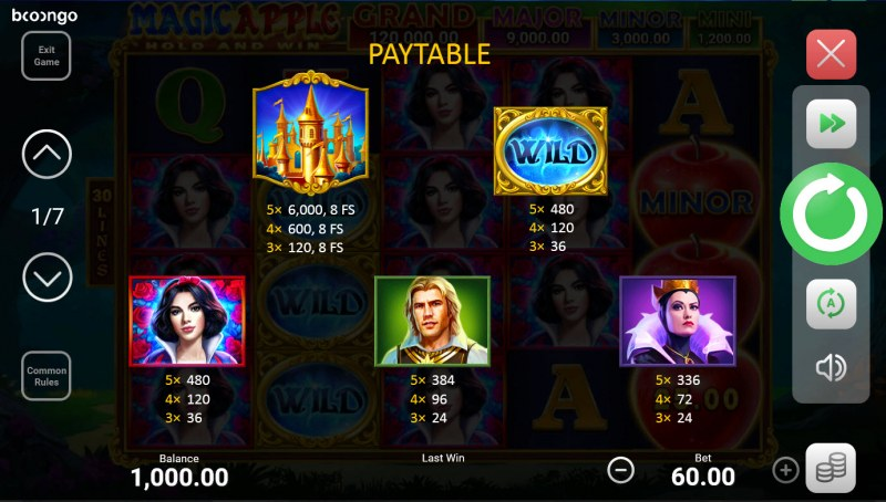Magic Apple Hold and Win :: Paytable - High Value Symbols
