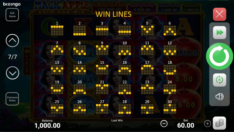 Magic Apple Hold and Win :: Paylines 1-30