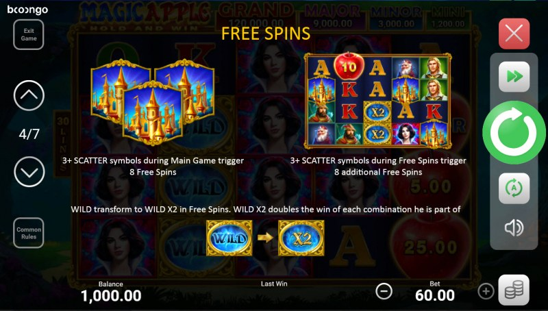 Magic Apple Hold and Win :: Free Spin Feature Rules