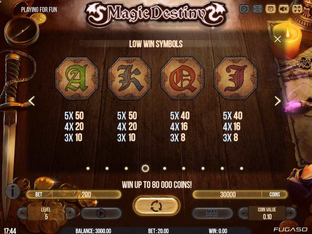 Play slots at Magik Slots: Magik Slots featuring the Video Slots Magic Destiny with a maximum payout of $80,000