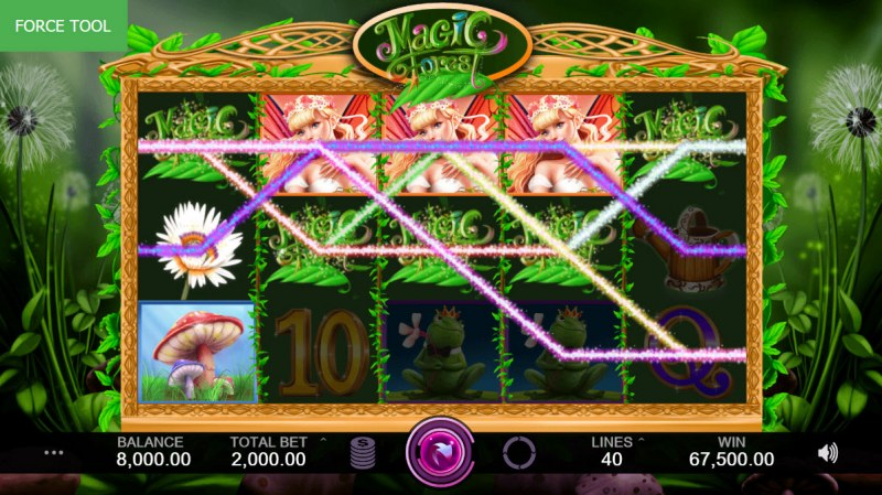 Magic Forest :: Multiple winning paylines leads to a super win
