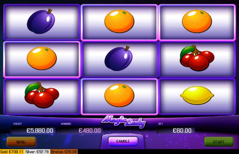 Magic Lady :: Multiple winning combinations