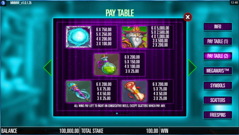 Magic Merlin Megaways :: Paytable - High Value Symbols