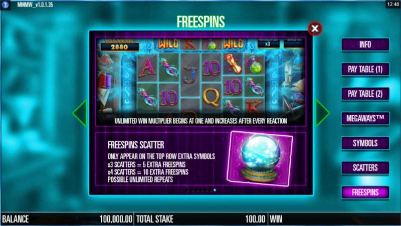 Magic Merlin Megaways :: Free Spins Rules