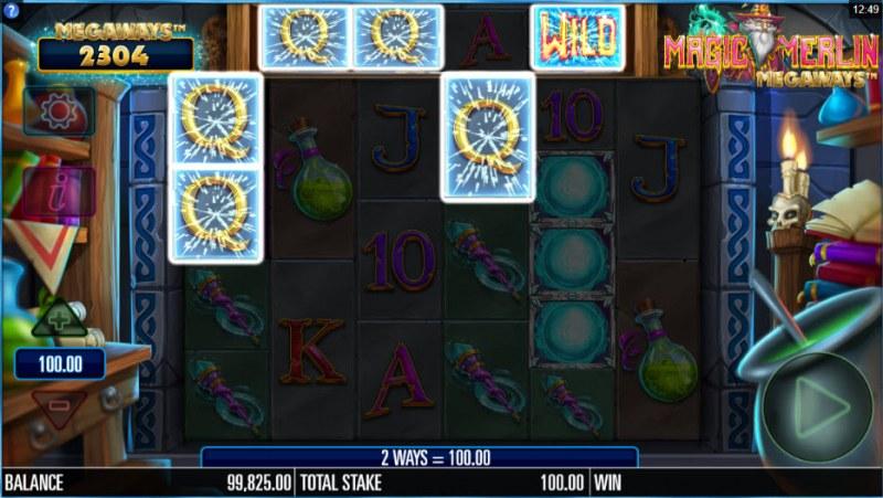 Magic Merlin Megaways :: A five of a kind win