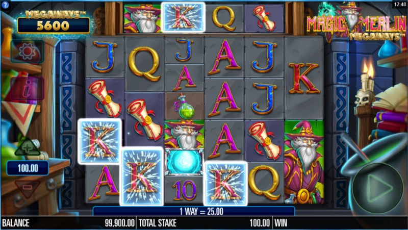 Magic Merlin Megaways :: Four of a kind Win