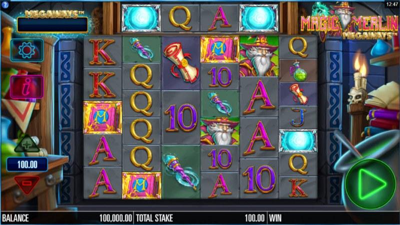 Magic Merlin Megaways :: Main Game Board
