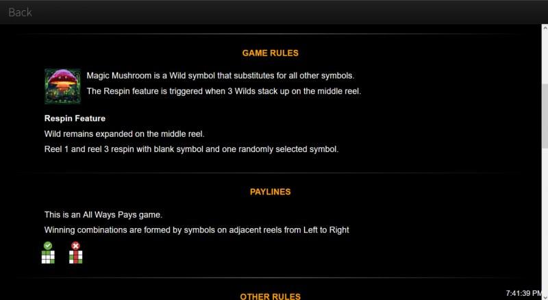 Magic Mushroom :: General Game Rules