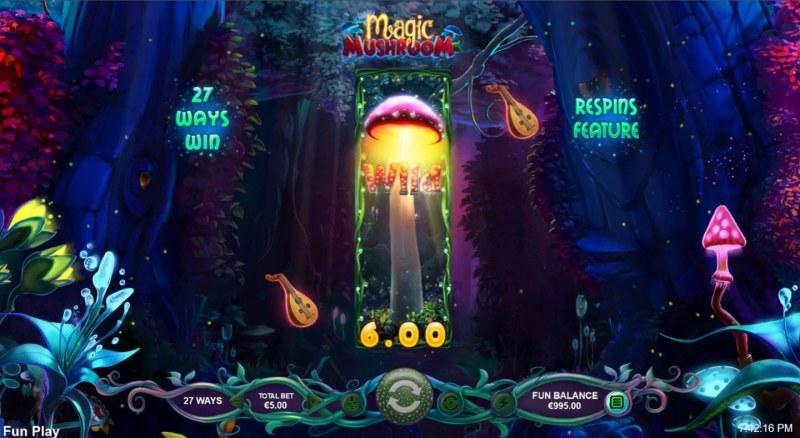 Magic Mushroom :: A three of a kind win