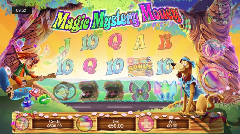 Magic Mystery Money :: Hippy plays his music to modify the reels