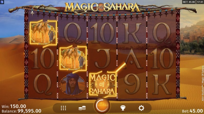 Magic of Sahara :: A winning 3 of a kind