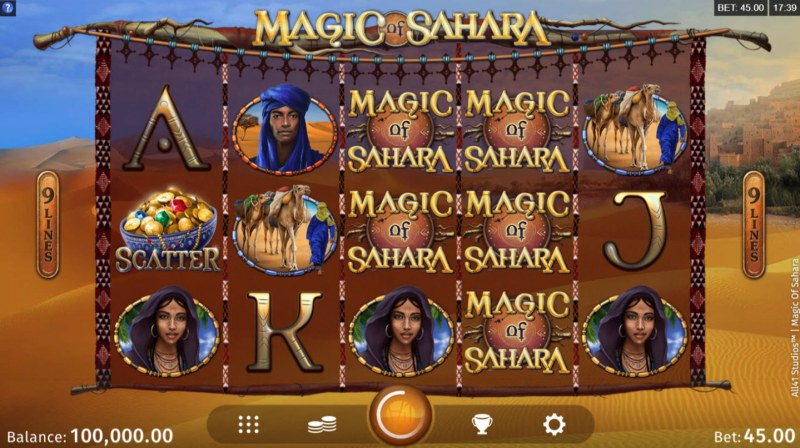 Play slots at Stan James: Stan James featuring the Video Slots Magic of Sahara with a maximum payout of $100,000