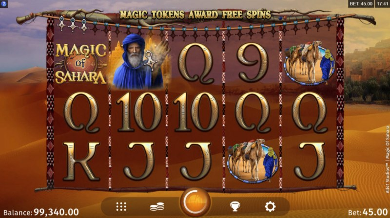 Magic of Sahara :: Collect tokens during game play