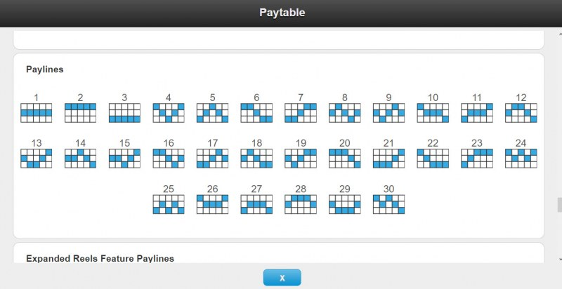 Magic of the Nile :: Paylines 1-30