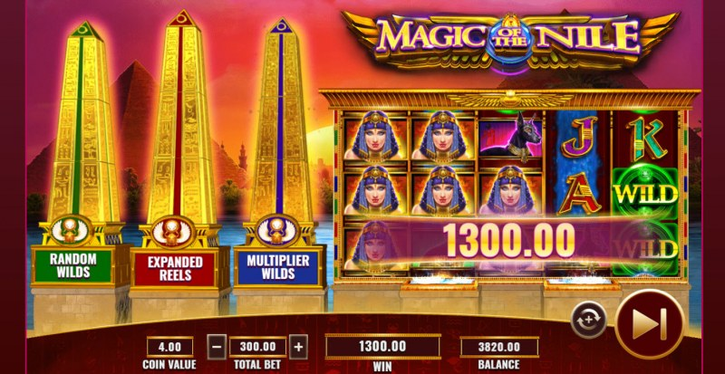 Magic of the Nile :: Multiple winning paylines