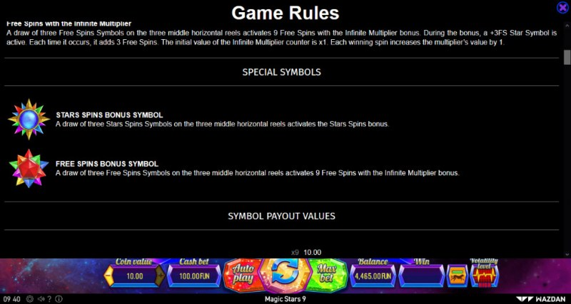 Magic Stars 9 :: Feature Rules