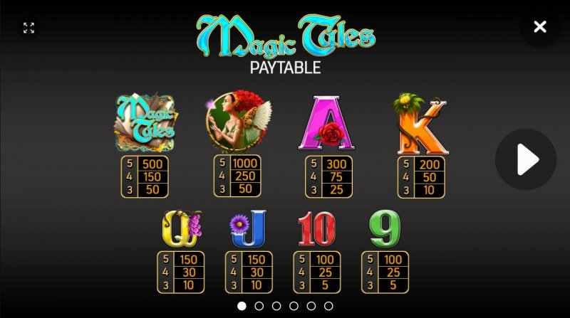 Magic Tales :: Paytable