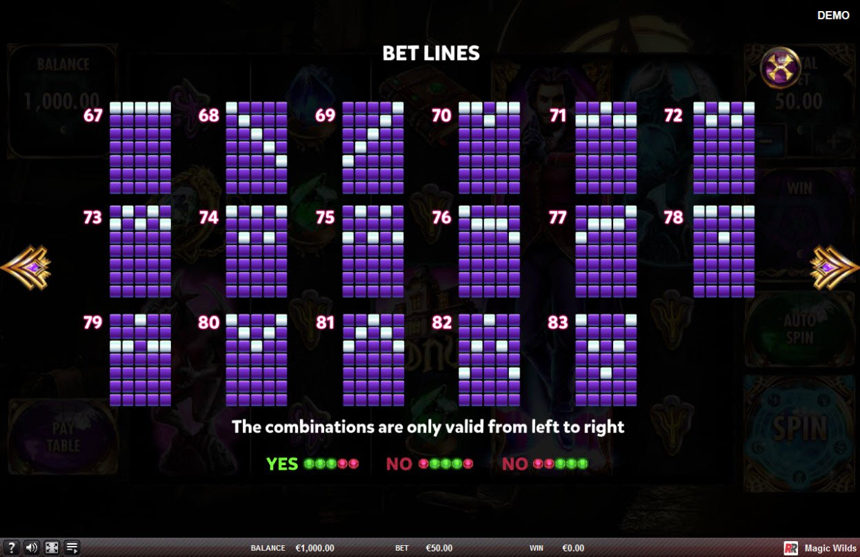 Play slots at King Tiger: King Tiger featuring the Video Slots Magic Wilds with a maximum payout of $75,000