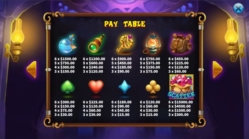 Magical Store :: Paytable