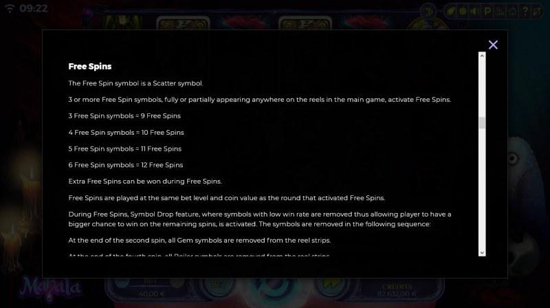 Mahala :: Free Spins Rules