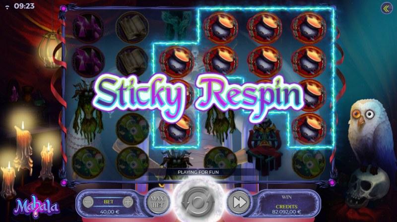 Mahala :: Sticky Respin Triggered