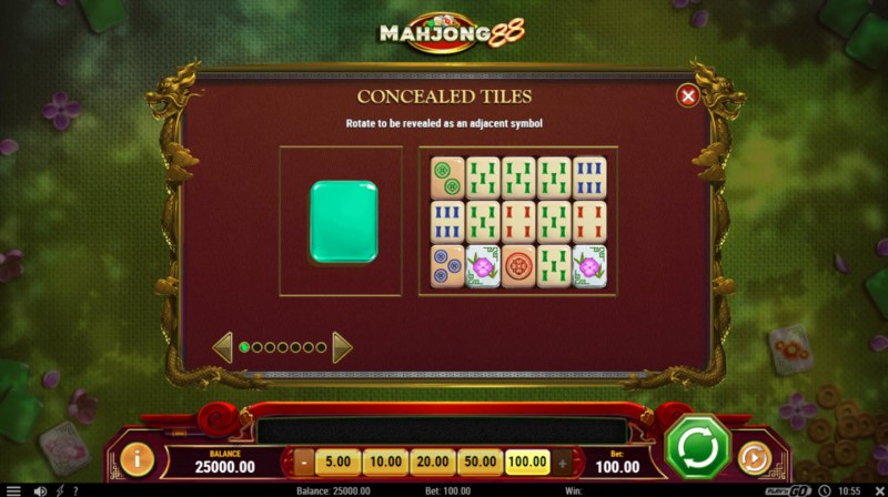 Play slots at Luckland: Luckland featuring the Video Slots Mahjong 88 with a maximum payout of $500,000