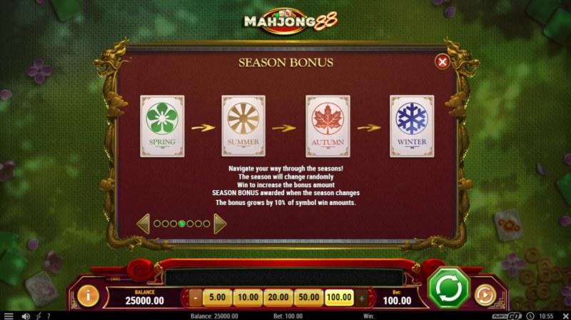 Mahjong 88 :: Seasons