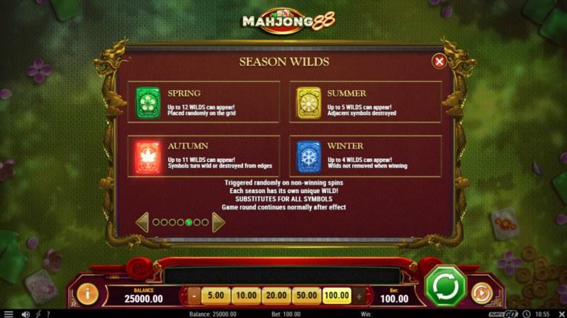 Mahjong 88 :: Feature Rules