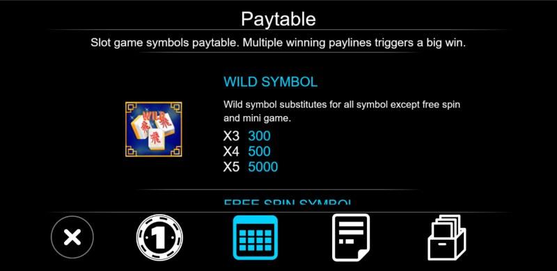 Mahjong House :: Wild Symbol Rules
