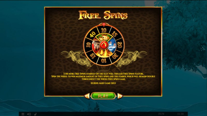 Majestic King Christmas Edition :: Free Spins Rules