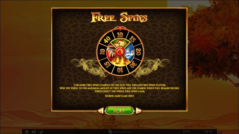 Majestic King :: Free Spins Rules