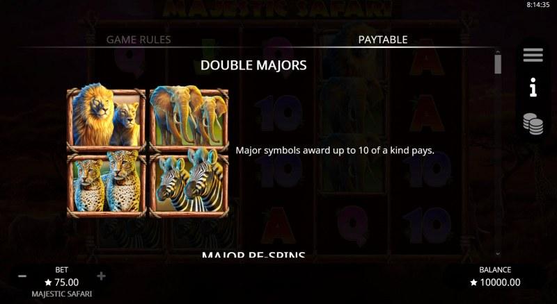 Majestic Safari :: Double Majors