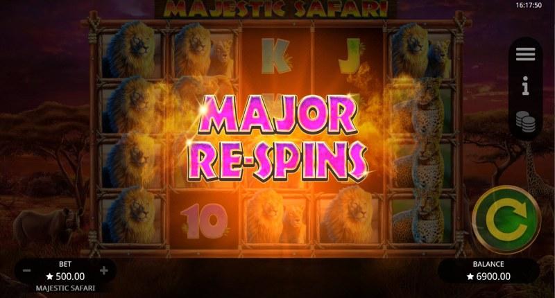Majestic Safari :: Major Respins triggered