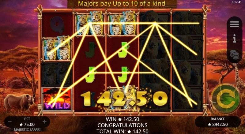 Majestic Safari :: Multiple winning paylines