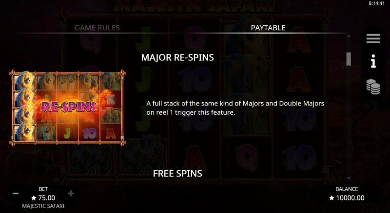 Majestic Safari :: Majors Re-Spins