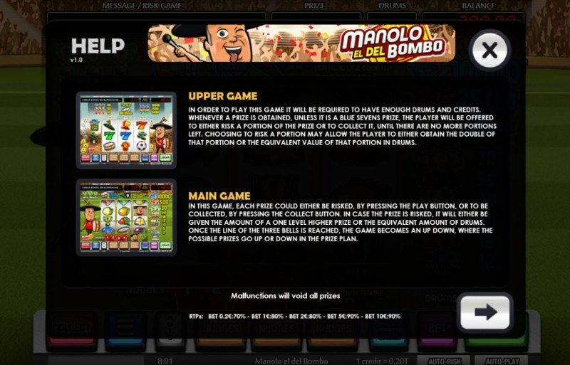 Manolo el del Bombo :: Main Game and Upper Game