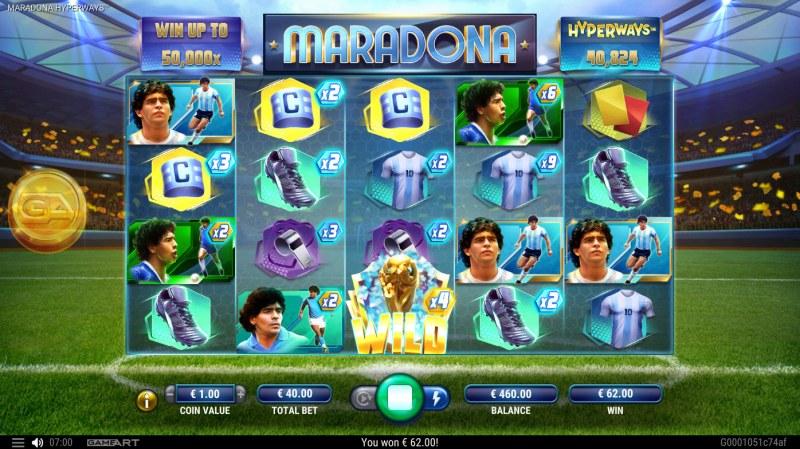 Maradona Hyperways :: Multiple winning combinations