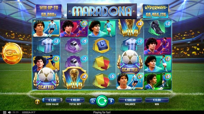 Maradona Hyperways :: Main Game Board