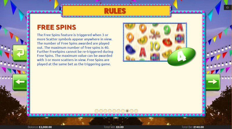 Mariachi Mayhem :: Free Spin Feature Rules