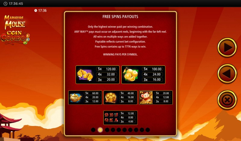 Marvelous Mouse :: Free Spins Payouts